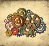 Free Photo - Retro Rusty Colorful Cogwheels