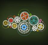 Free Photo - Working - Concept of Work with Cogwheels on Blackboard