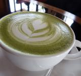Free Photo - Hot Green Tea with Heart Art