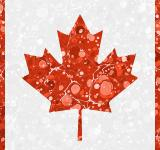 Free Photo - Vintage Marbled Flag of Canada
