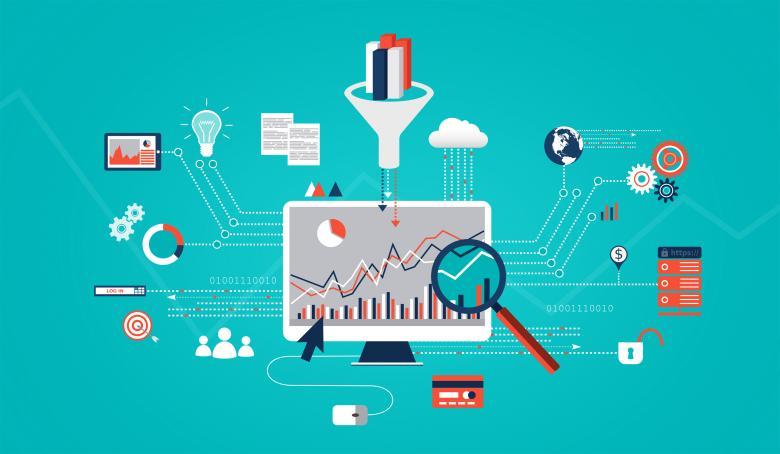 Big Data Analytics - Free Business Illustrations