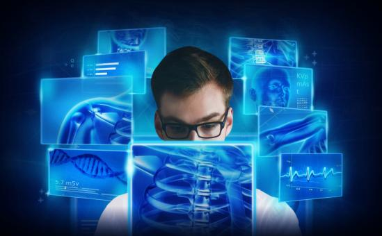 Medical Doctor Studying the Human Body - Concept - Free Stock Photo