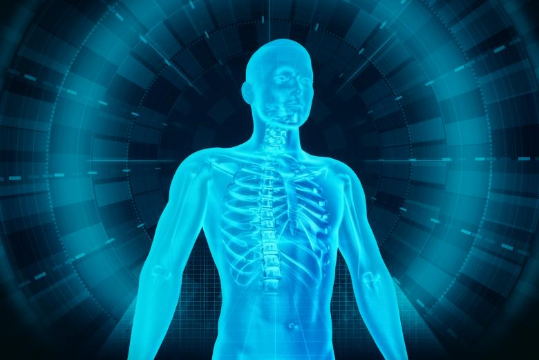Free Stock Photo of Medical Human Body Scan - Man and Technology Created by Jack Moreh