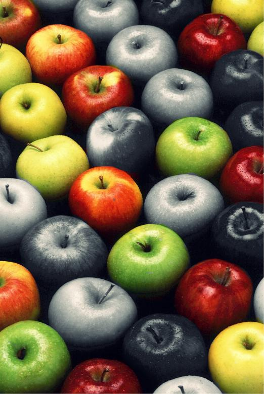 Free Stock Photo of Colorful Apples Created by Pixabay