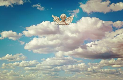 Angel in the Clouds - Free Stock Photo
