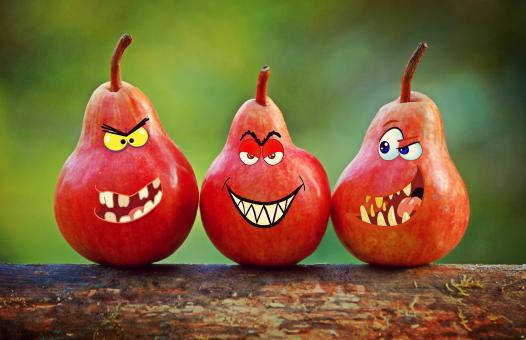 Angry Red Pears - Free Stock Photo