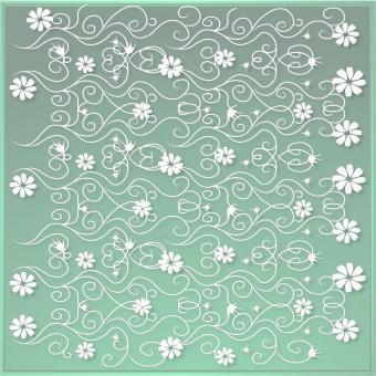 Green Floral Design - Free Stock Photo