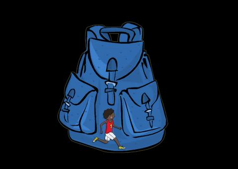 Blue Backpack - Free Stock Photo
