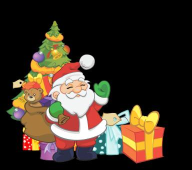 Santa with Christmas Gifts - Free Stock Photo