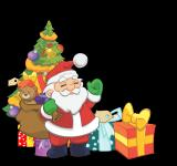 Free Photo - Santa with Christmas Gifts