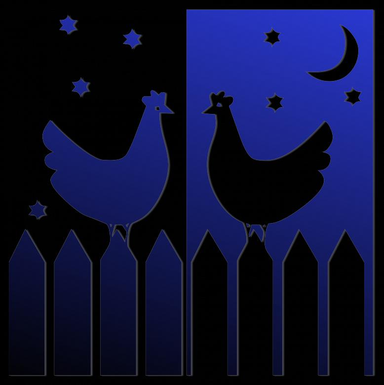 Free Stock Photo of Chicken at Night n Day Created by Pixabay
