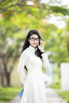 Asian Girl with Glasses - Free Stock Photo