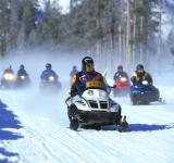 Free Photo - Snowmobile Racing