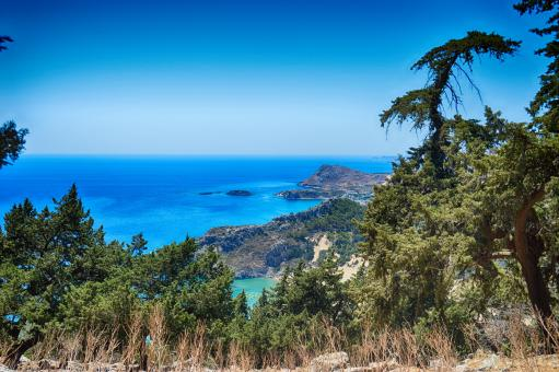 View from the mountains to the sea - Free Stock Photo