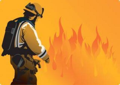 Fire Fighter Vector Illustration - Free Stock Photo