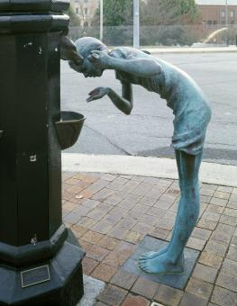 Sculpture Drinking Water - Free Stock Photo
