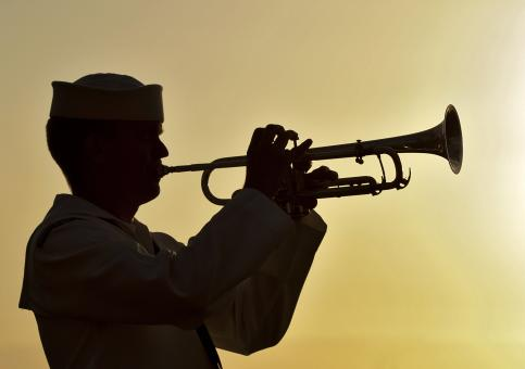Trumpeter of the Band - Free Stock Photo