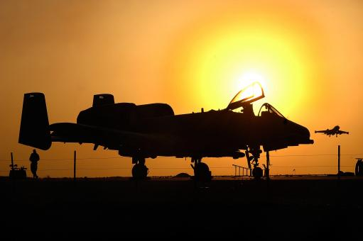 Military Aircraft Silhouette - Free Stock Photo