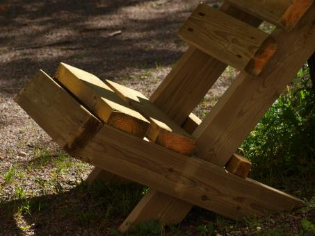 Selfmade wooden chair - Free Stock Photo