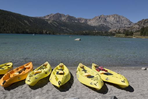 Kayaks on the Shore - Free Stock Photo
