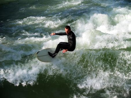 Water Surfing - Free Stock Photo