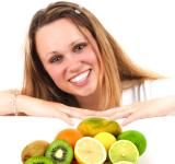 Free Photo - Eat More Fruit - Woman and Assorted Fruit