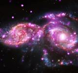 Free Photo - Colliding Spiral Galaxies