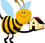 Free Photo - Vector Bee Holding a House
