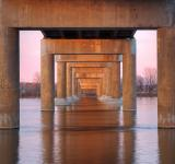 Free Photo - Twilight Bridge Pillars - HDR