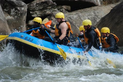 Rafting Race - Free Stock Photo