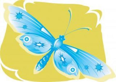 Blue Butterfly Illustration - Free Stock Photo