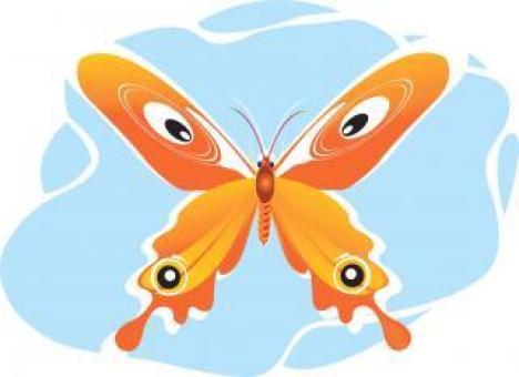 Orange Butterfly Illustration - Free Stock Photo
