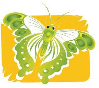 Green Butterfly Illustration - Free Stock Photo
