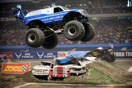Monster Truck Jump - Free Stock Photo