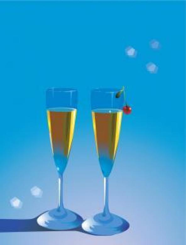 Free Stock Photo of Champagne Glasses Illustration Created by maa illustrations