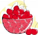 Free Photo - Cherries	 Vector Illustration