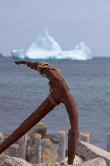 Iceberg and Anchor - Free Stock Photo