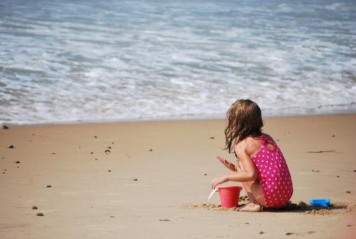 Little Girl on the Beach - Free Stock Photo