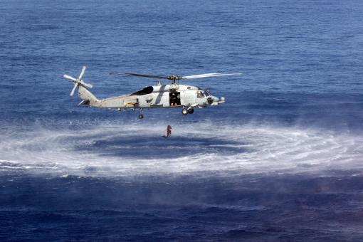 Helocasting in the Sea - Free Stock Photo