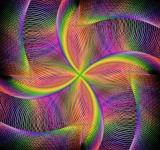 Free Photo - Abstract Rotating Colorful Fractal Background