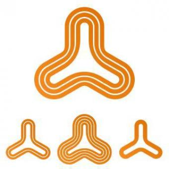 Orange Line Triangle Logo - Free Stock Photo