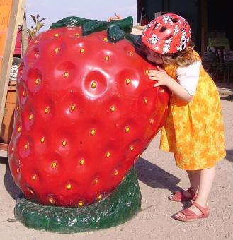 Strawberry Sculpture - Free Stock Photo