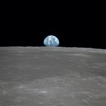 Earth from the Moon - Free Stock Photo