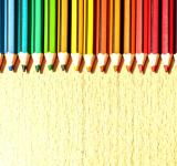 Free Photo - Color Pencils in a Row with Copyspace