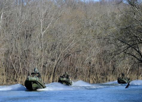 Military Boats in the River - Free Stock Photo