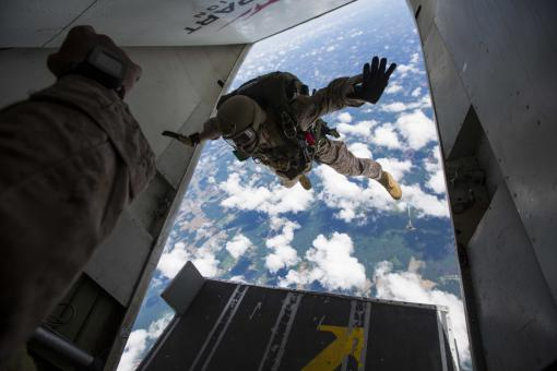 Military Skydivers - Free Stock Photo