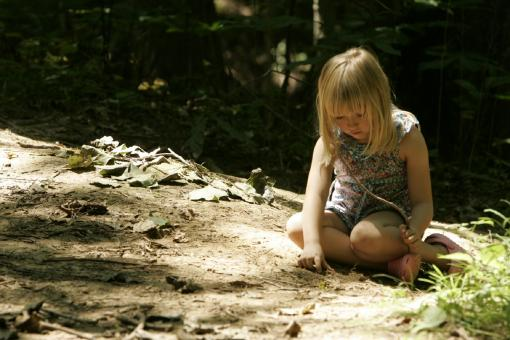 Little Girl in the Jungle - Free Stock Photo