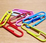 Free Photo - Colored Paper Clips