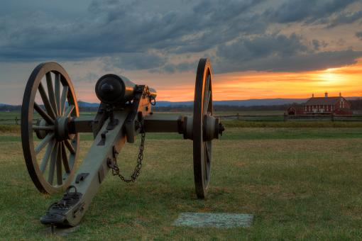 Gettysburg Cannon Sunset - HDR - Free Stock Photo