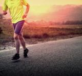 Free Photo - Male Runner in the Countryside at Sunrise